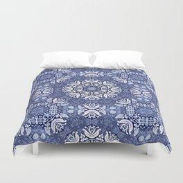 Blue snow pattern Duvet Cover