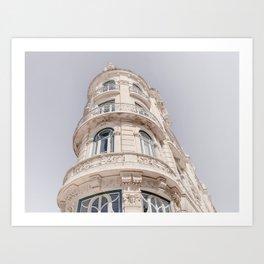 Art Nouveau Architecture Art Print | Portugal Architecture Photography | Lisbon Building Art Print