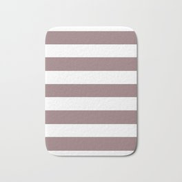 Bazaar - solid color - white stripes pattern Bath Mat