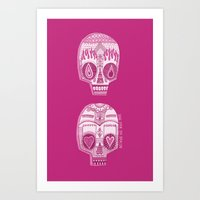 sugar skulls Art Prints featuring Sugar Skulls by Diana Dypvik