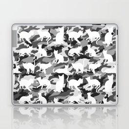 Black and White Catmouflage Camouflage Laptop & iPad Skin