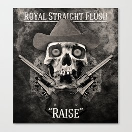 Royal Straight Flush Canvas Print