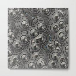 Metal mirror circles Metal Print