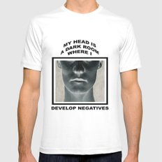My head is a dark room, where I develop negatives. Mens Fitted Tee MEDIUM White