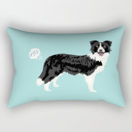 Border Collie dog breed funny dog fart Rectangular Pillow