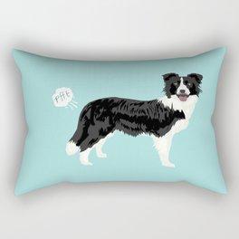 Border Collie dog breed funny dog fart Rectangular Pillow