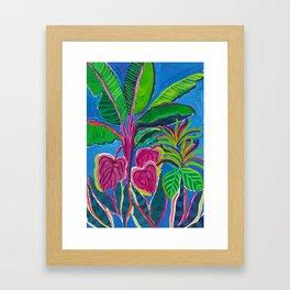 Banana Plant Print Framed Art Print