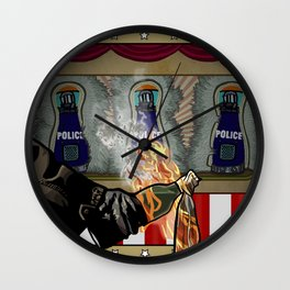 Molotov Cocktail Party Wall Clock