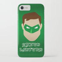 green lantern iPhone & iPod Cases featuring Green Lantern by Sport_Designs