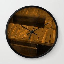 Wood Type Wall Clock