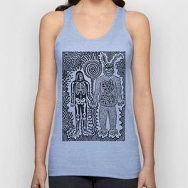 I was in a skeleton suit holding your hand... then I woke up / In honour of Donnie Darko Unisex Tank Top