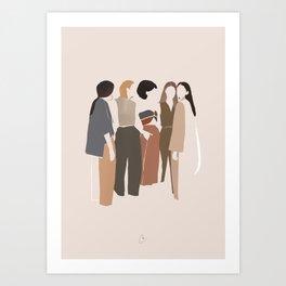 Girls talk Art Print