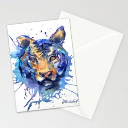 Watercolor Splatter Tiger Stationery Cards