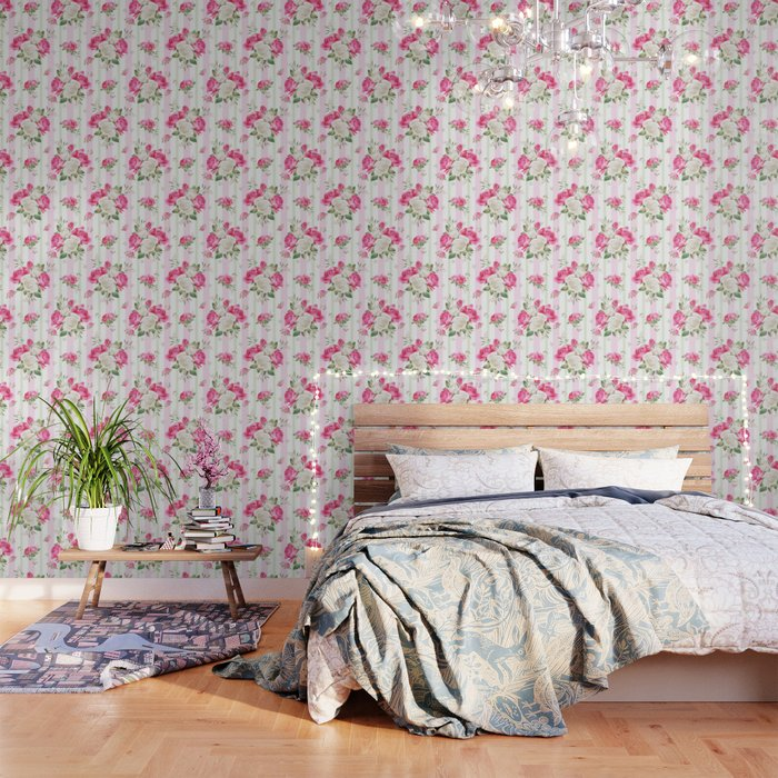 Belle époque Flower Power Wallpaper By Healinglove8 Society6