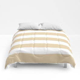 Durian White - solid color - white stripes pattern Comforters
