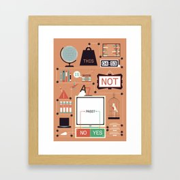 This is not a test!  Framed Art Print