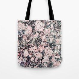 Rustic vintage black pastel pink marble Tote Bag