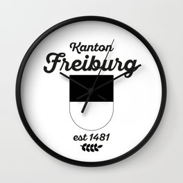 Canton of Fribourg Wall Clock