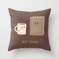 best friends Throw Pillows featuring Best Friends  by Teo Zirinis