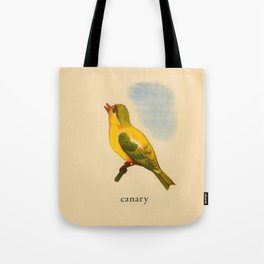 Cute Canary Painting Tote Bag
