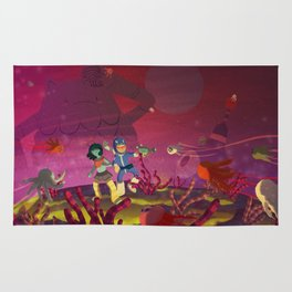 Matilda and Bouru - Alien Planet Rug