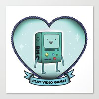 bmo Canvas Prints featuring BMO by Breathedeep