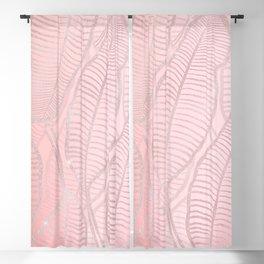 Rose Gold Glitter Banana Leaves Artwork Blackout Curtain