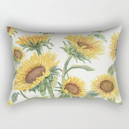 Blooming Sunflowers Rectangular Pillow