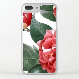 RED FLOWERS - digital Clear iPhone Case