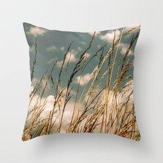 Golden Wheat Throw Pillow