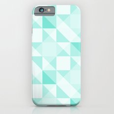 All Turquoise Triangle Pattern iPhone 6 Slim Case