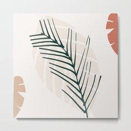 Vintage Palm Leaf  Metal Print