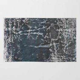 Dark gray marble watercolor design Rug
