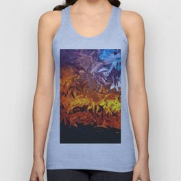 Decorative Abstract Sunset Design Unisex Tank Top