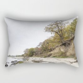 Along The Cliff On Baltic Sea Rectangular Pillow