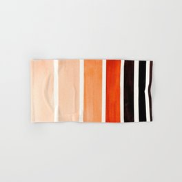 Burnt Sienna Minimalist Mid Century Modern Color Fields Ombre Watercolor Staggered Squares Hand & Bath Towel
