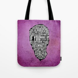 Typography Narrator Tote Bag