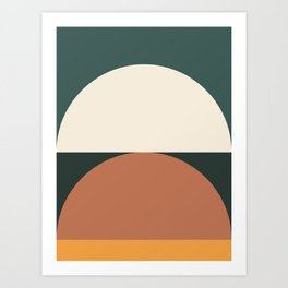 Abstract Geometric 01E Art Print