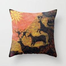 The Ancient Cervine Throw Pillow