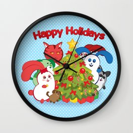 Ernest | Winter Holidays Wall Clock