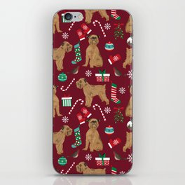 Brussels Griffon christmas holiday pet pattern stockings presents dog breed gifts iPhone Skin