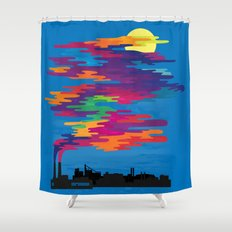 Hidden in the Smog (day) Shower Curtain