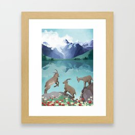 The hills are alive Framed Art Print