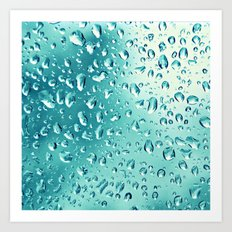 I wish it would rain down Art Print