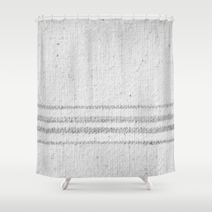 Top VINTAGE FARMHOUSE GRAIN SACK Shower Curtain by  CP71