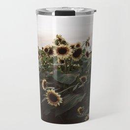 In The Sunflower Field Travel Mug