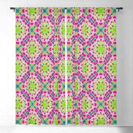Cosmos flowers pattern Blackout Curtain
