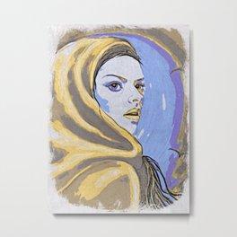 Lady In Yellow Hood Metal Print