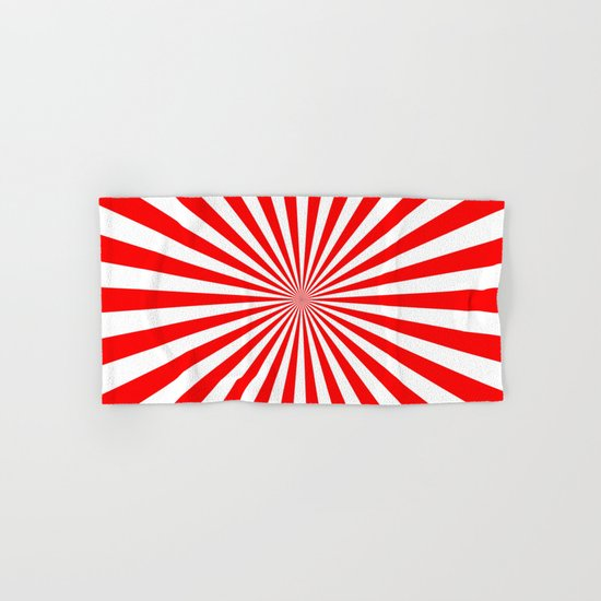 Starburst (Red/White) Hand & Bath Towel