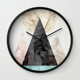 Landscape watercolor collage V Wall Clock